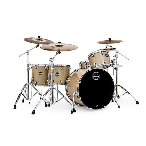 Mapex MyDentity 4-Piece Shell Pack Chrome on Gamma Gold Multi-Sparkle Maple