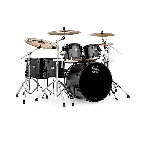 Mapex MyDentity 5 Piece Shell Pack Flat Black on Flat Black Maple