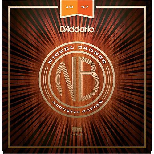 D'Addario NB1047 Nickel Bronze Extra Light Acoustic Guitar Strings-thumbnail