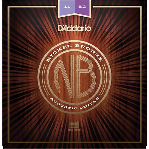 D'Addario NB1152 Nickel Bronze Custom Light Acoustic Strings-thumbnail