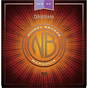 Daddario NBM11540 Nickel Bronze Custom Medium Mandolin Strings 11.5-40 by D'Addario