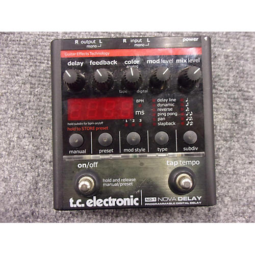 TC Electronic ND1 Nova Delay Effect Pedal-thumbnail