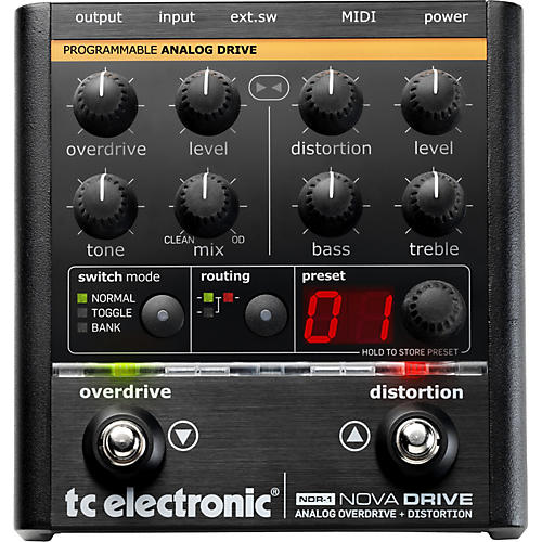 TC Electronic NDR-1 Nova Drive Overdrive and Distortion Guitar Effects Pedal-thumbnail