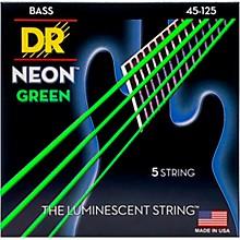 DR Strings NEON Hi-Def Green Bass SuperStrings Medium 5-String