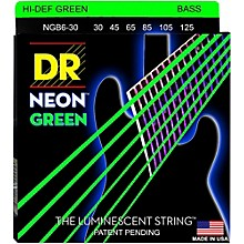 DR Strings NEON Hi-Def Green Bass SuperStrings Medium 6-String