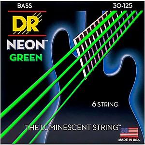 DR Strings NEON Hi-Def Green Bass SuperStrings Medium 6 String by DR Strings