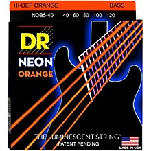 DR Strings NEON Hi-Def Orange Bass SuperStrings Light 5-String