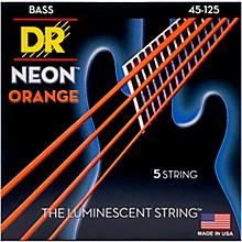 DR Strings NEON Hi-Def Orange Bass SuperStrings Medium 5-String
