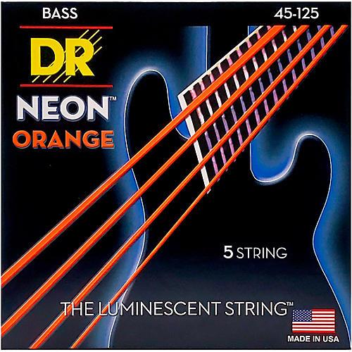 DR Strings NEON Hi-Def Orange Bass SuperStrings Medium 5-String-thumbnail