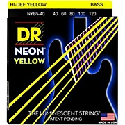 DR Strings NEON Hi-Def Yellow Bass SuperStrings Light 5-String
