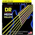 DR Strings NEON Hi-Def Yellow SuperStrings Light Top Heavy Bottom Electric Guitar Strings-thumbnail