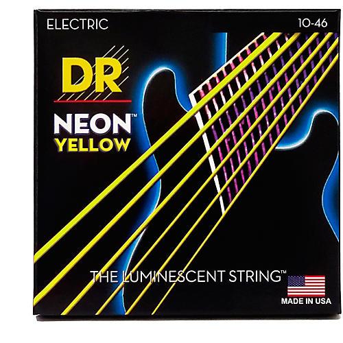 DR Strings NEON Hi-Def Yellow SuperStrings Medium Electric Guitar Strings-thumbnail