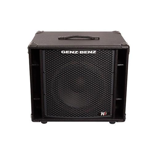 Genz Benz NEX2-112T 300W 1x12 Neodymium Bass Speaker Cabinet w/ Tweeter Black