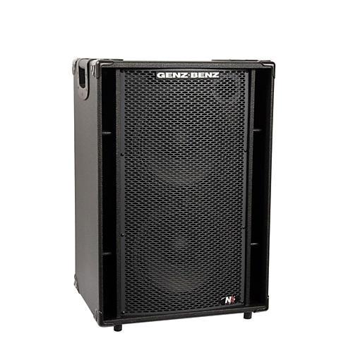 Genz Benz NEX2-212T 600W 2x12 Neodymium Bass Speaker Cabinet w/ Tweeter-thumbnail