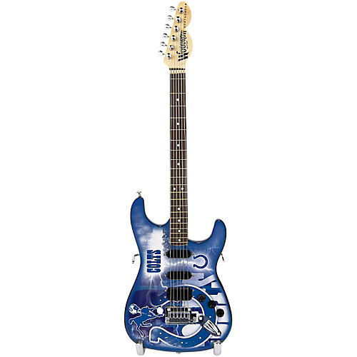 woodrow guitars nfl 10 in mini guitar collectible indianapolis colts guitar center. Black Bedroom Furniture Sets. Home Design Ideas