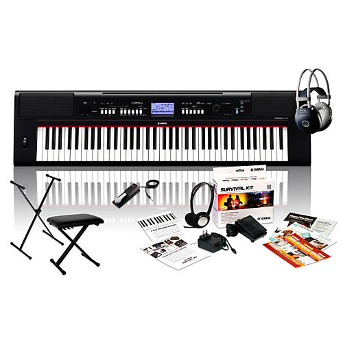 yamaha np v60 with m80 mkii bench stand sustain pedal. Black Bedroom Furniture Sets. Home Design Ideas