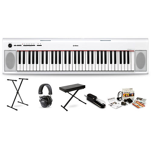 Yamaha NP12 with M80 MkII Bench, Stand & Sustain Pedal White