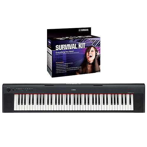 Yamaha NP31 76-Key Portable Digital Pianowith Yamaha D2 Survival Kit
