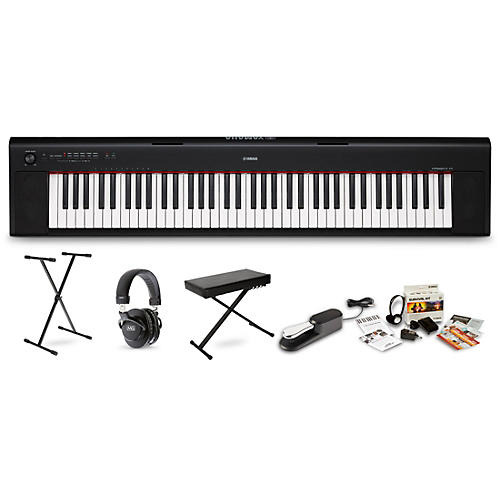 Yamaha NP32 with M80 MkII, Bench, Stand & Sustain Pedal Black