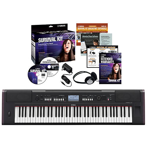 Yamaha NPV80 76-Key Piaggero Portable Digital Pianowith Yamaha C2 Survival Kit