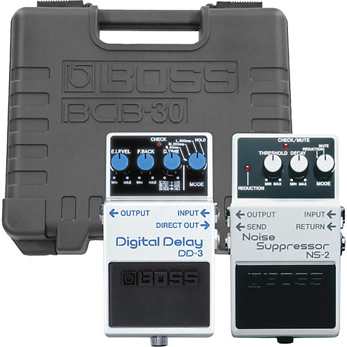 Boss NS-2/DD-3 Pedals with BCB-30 Pedal Board-thumbnail