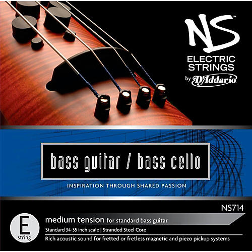 D'Addario NS Electric Bass Cello / Electric Bass E String-thumbnail