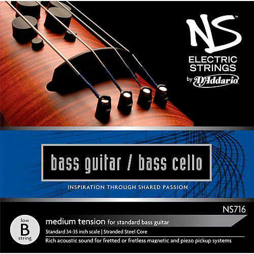 D'Addario NS Electric Bass Cello / Electric Bass Low B String
