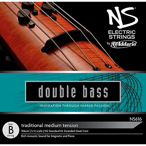D'Addario NS Electric Traditional Bass Single Low B String-thumbnail