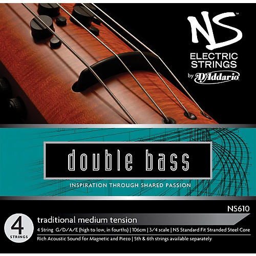D'Addario NS610 NS Electric Traditional Bass Strings-thumbnail