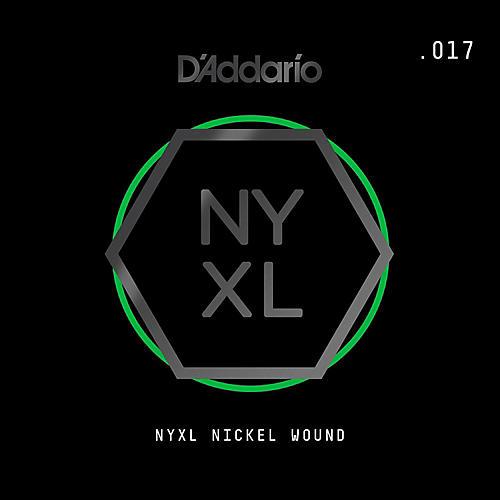 D'Addario NYNW017 NYXL Nickel Wound Electric Guitar Single String, .017