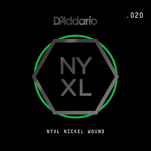 D'Addario NYNW020 NYXL Nickel Wound Electric Guitar Single String, .020-thumbnail
