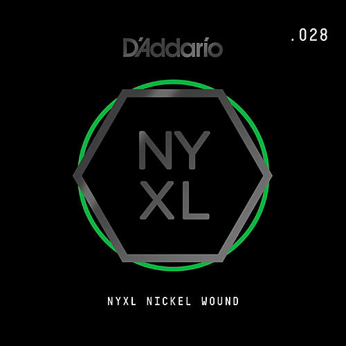 D'Addario NYNW028 NYXL Nickel Wound Electric Guitar Single String, .028