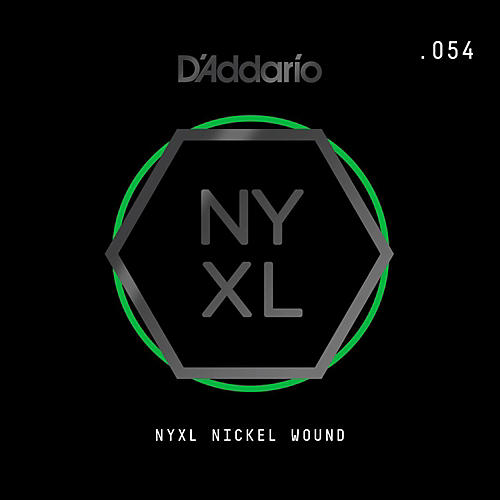 D'Addario NYNW054 NYXL Nickel Wound Electric Guitar Single String, .054
