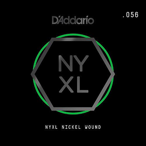 D'Addario NYNW056 NYXL Nickel Wound Electric Guitar Single String, .056-thumbnail