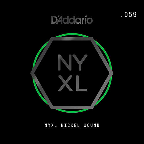 D'Addario NYNW059 NYXL Nickel Wound Electric Guitar Single String, .059