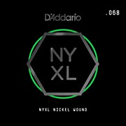 D'Addario NYNW068 NYXL Nickel Wound Electric Guitar Single String, .068