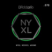 D'Addario NYNW070 NYXL Nickel Wound Electric Guitar Single String, .070