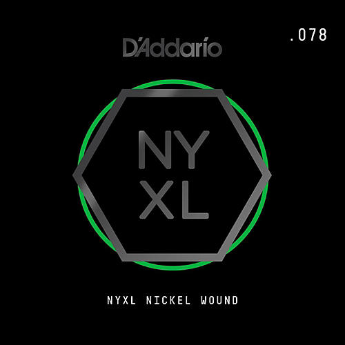 D'Addario NYNW078 NYXL Nickel Wound Electric Guitar Single String, .078-thumbnail