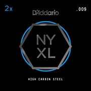 D'Addario NYPL009 Plain Steel Guitar Strings 2-Pack, .009