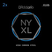D'Addario NYPL0105 Plain Steel Guitar Strings 2-Pack, .0105