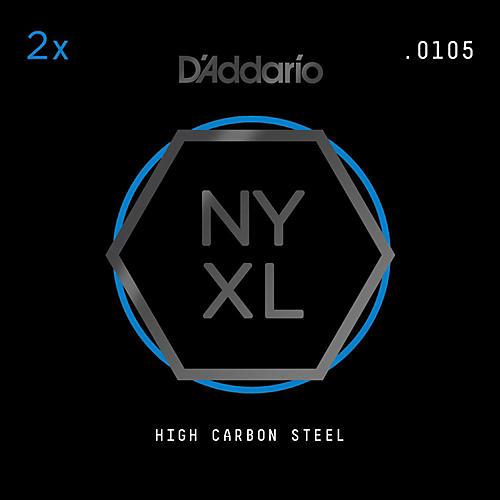 D'Addario NYPL0105 Plain Steel Guitar Strings 2-Pack, .0105-thumbnail