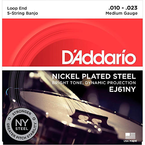 D'Addario NYXL Medium Banjo Strings (10-23)