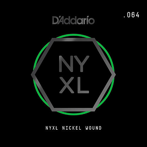 D'Addario NYXL Single Wound 064 Electric Guitar Strings-thumbnail