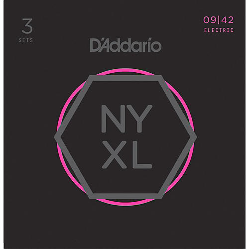 D'Addario NYXL0942 Super-Light 3-Pack Electric Guitar Strings