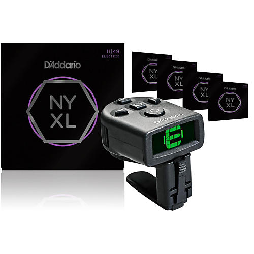 D'Addario NYXL1149 Medium Electric Guitar Strings 5-Pack with FREE NS Micro Headstock Tuner-thumbnail