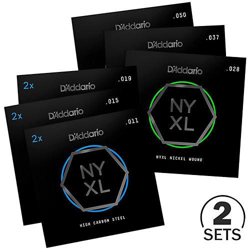 D'Addario NYXL1150BT BT Medium Tension Electric Guitar Strings Custom 2-Pack (11-50)