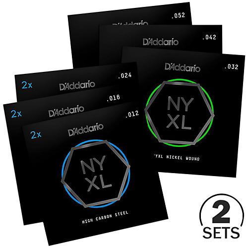 D'Addario NYXL1252 Jazz Light Electric Guitar Strings Custom 2-Pack (12-52)-thumbnail