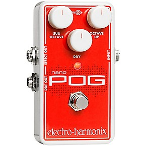 electro harmonix nano pog polyphonic octave generator guitar effects pedal guitar center. Black Bedroom Furniture Sets. Home Design Ideas