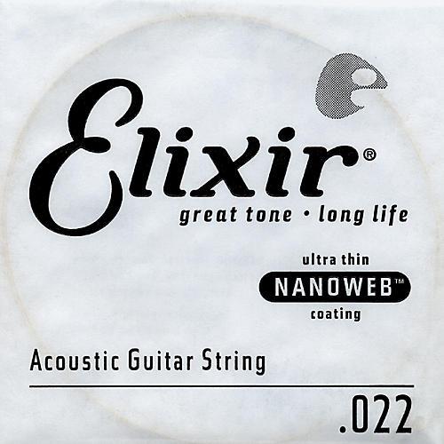 Elixir Nanoweb .022 Acoustic Guitar String 4-Pack Singles