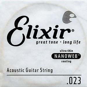Elixir Nanoweb .023 Acoustic Guitar String 4 Pack Singles